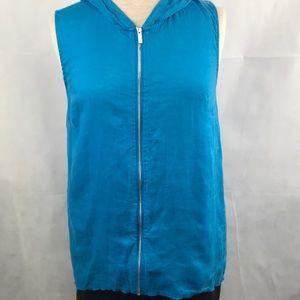 Calvin Klein sleeveless zip hoodie